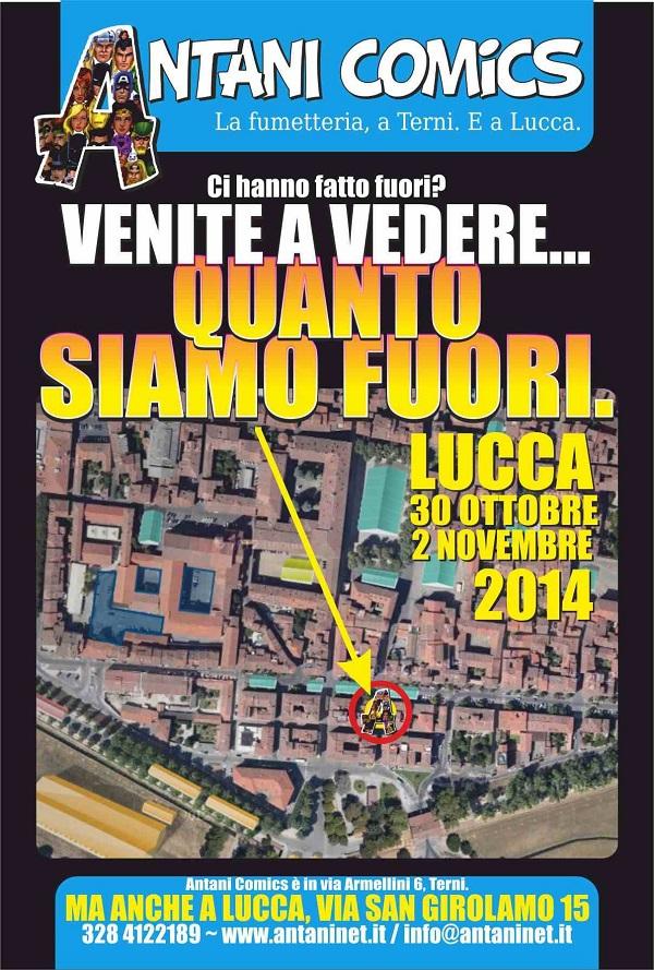 """Antani Comic ancora a Lucca, ma ancora """"fuori"""""""