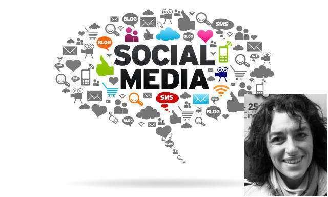 Social Media speech bubble on white background.
