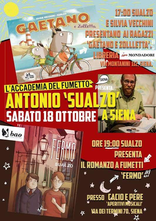 Accademia del Fumetto: doppio evento con Antonio Sualzo e le sue opere