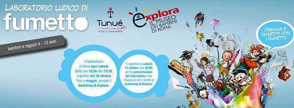 Il museo Explora ospita il laboratorio di fumetti per bimbi del TunuéLab