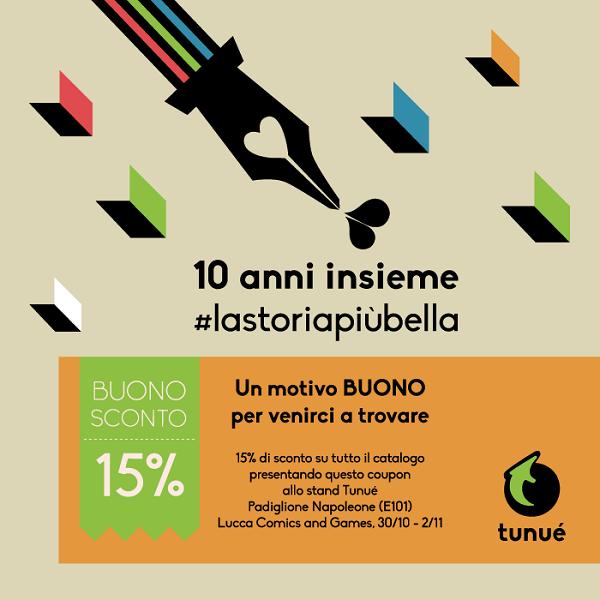 Iniziativa per festeggiare il lancio del nuovo logo Tunué a Lucca Comics 2014