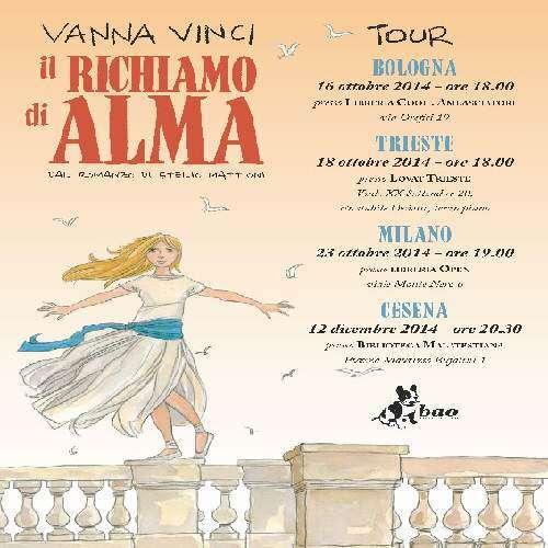 """""""Il richiamo di Alma"""" di Vanna Vinci in tour: Bologna, Trieste, Milano, Cesena"""