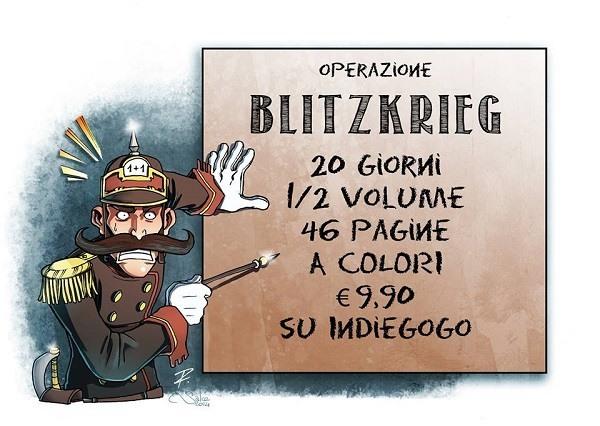 """E' iniziata """"Operazione BLITZKRIEG"""", crownfunding per """"Prussiani VS Alieni"""" di Davide La Rosa e Riccardo Pieruccini"""