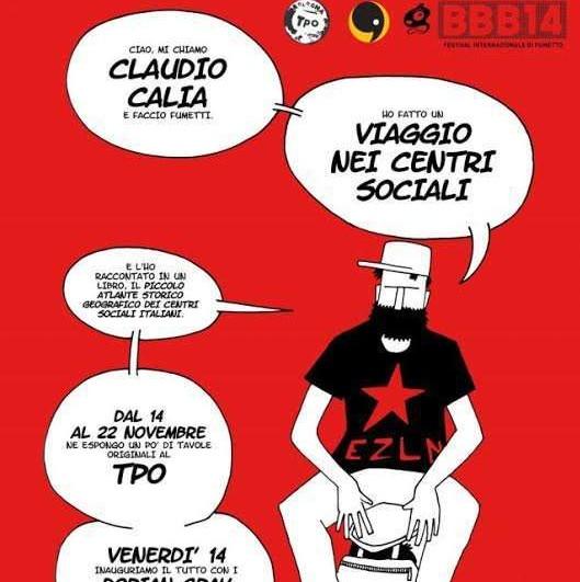 """In mostra le tavole originali del """"Piccolo Atlante dei centri Sociali"""", il libro di Claudio Calia"""