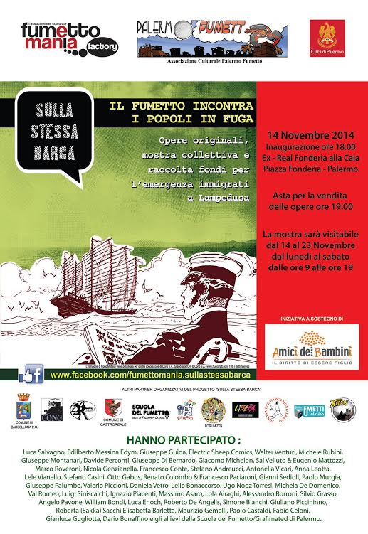 """""""Sulla stessa Barca"""": quinta tappa a Palermo dal 14 al 23 novembre"""