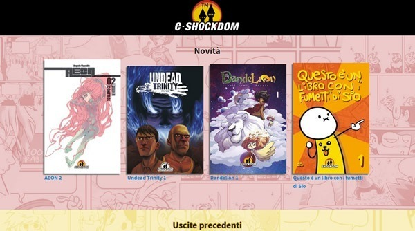 "Shockdom lancia la sua piattaforma e-book: ""e-Shockdom"""