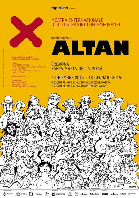 """Altan a Cremona per """"X"""" mostra di illustratori contemporanei"""