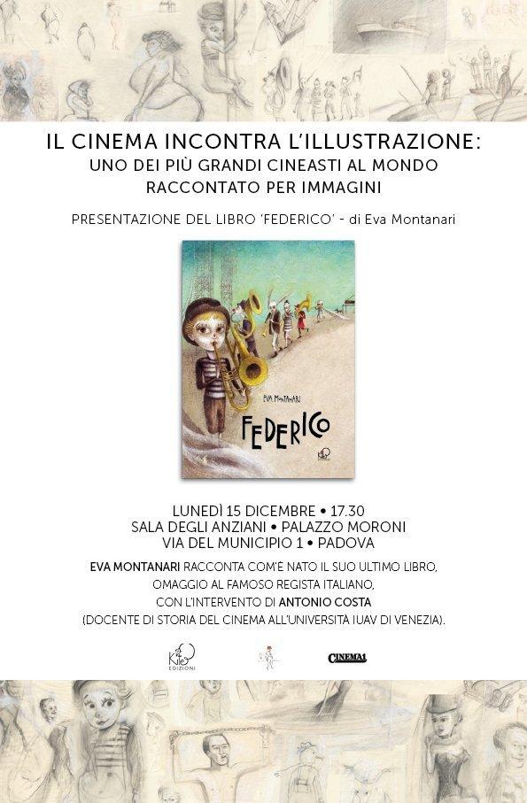 """Lunedi 15 dicembre presentazione del libro di Kite Edizioni """"Fellini"""" di Eva Montanari"""