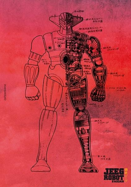 """Tre Promocard per """"Jeeg Robot d'Acciaio"""" con Gazzetta dello Sport"""