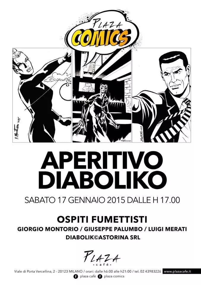 """Sabato 17 gennaio tutti al Plaza Comics di Milano per un """"Aperitivo Diaboliko"""""""