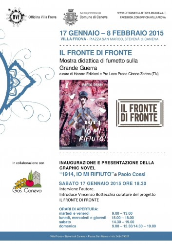 """""""Il fronte di fronte"""", mostra e presentazione del nuovo graphic novel di Paolo Cossi"""