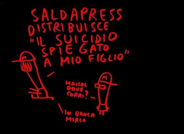 """SaldaPress distribuirà """"Il suicidio spiegato a mio figlio"""" di maicol&mirco"""