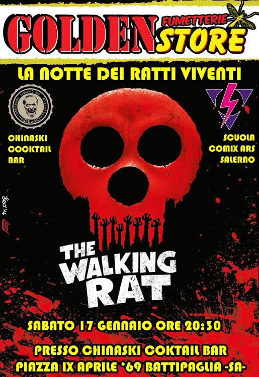 """La Fumetteria Goldenstore vi invita all'evento """"La notte dei Ratti Viventi: Drink & Draw"""""""