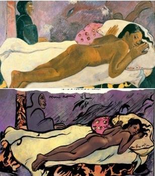 Gauguin e Pope a confronto.