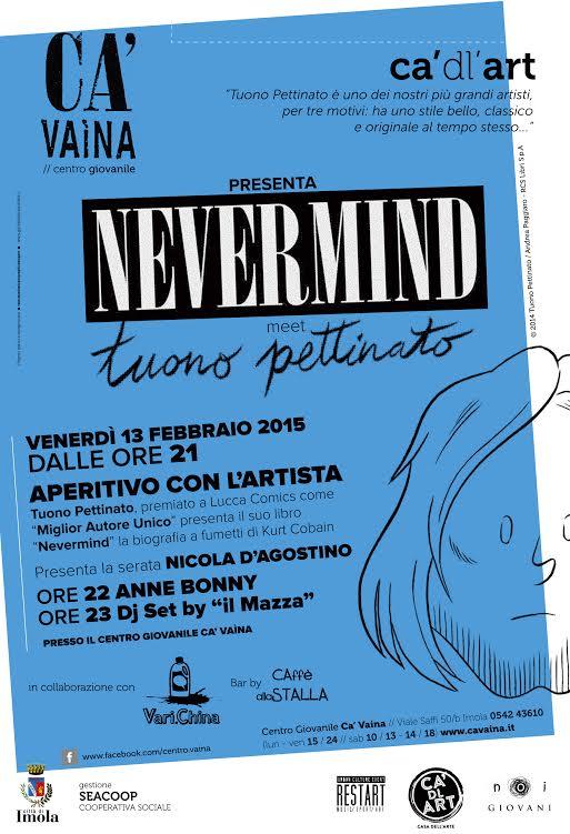 """Tuono Pettinato presenta """"Nevermind"""" al centro giovanile Ca' Vaina di Imola"""