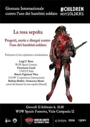 """Hazard Edizioni e Wow Spazio Fumetto per la """"Giornata internazionale contro l'uso dei bambini soldato"""""""