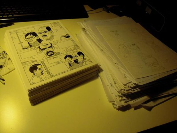 Le tavole del nuovo fumetto di Tiziano Angri