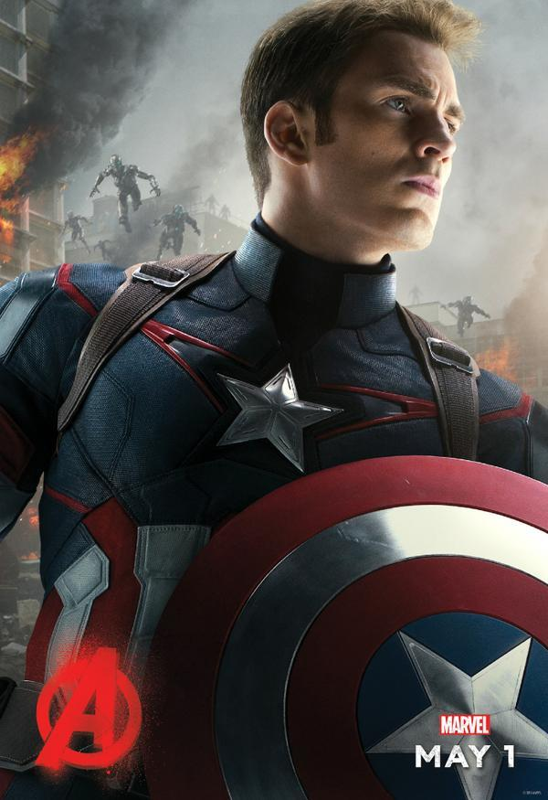 Avengers: Age of Ultron - Il character poster di Capitan America