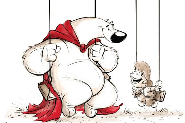 """Anteprima di """"Herobear e il bambino"""" il delicato fumetto creato da Mike Kunkel"""
