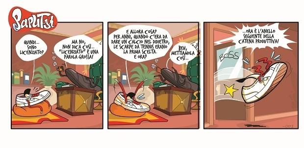 Arriva Paputsi, la nuova striscia a fumetti in esclusiva sulla storica rivista  Scarp de' tenis