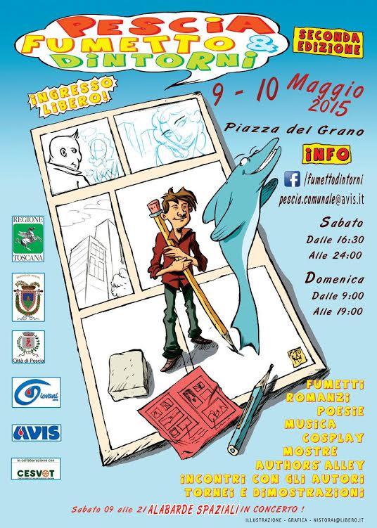 """9 e 10 Maggio: due giorni per l'editoria con """"Pescia , Fumetto e dintorni"""""""