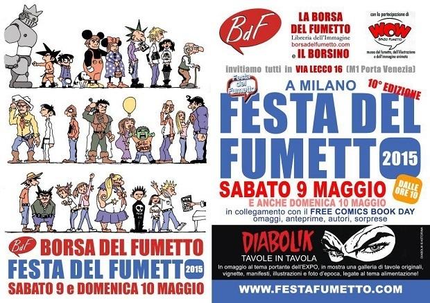 """Sabato 9 e domenica 10 maggio torna la """"Festa del Fumetto"""""""