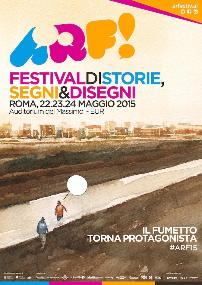 """Ecco il poster ufficiale della manifestazione """"ARF! Festival"""" realizzato da Gipi"""