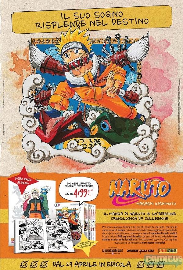 Naruto torna in edicola con la Gazzetta dello Sport