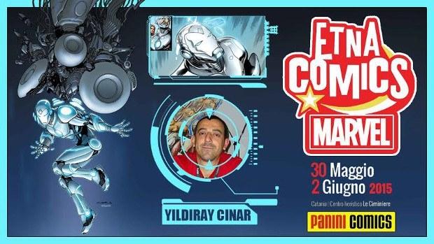 Yildiray Cinar grande ospite di Etna Comics 2015
