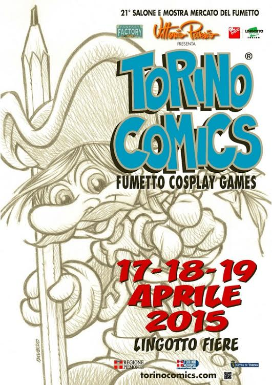 Dal 17 al 19 aprile XXI edizione di Torino Comics a Lingotto Fiere