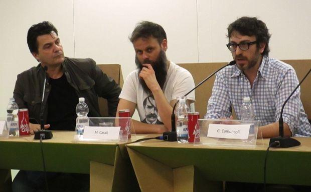 Da sinistra, Onofrio Catacchio, Matteo Casali e Giuseppe Camuncoli.