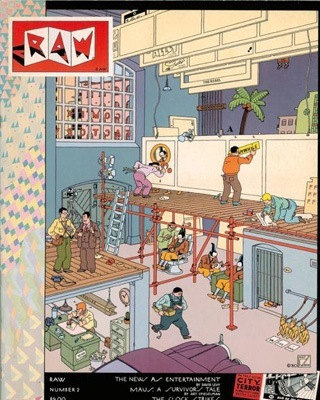 Joost Swarte, copertina per Raw, n.2, 1983.