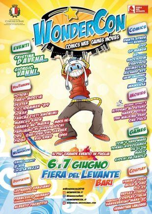 A Bari, il 6 e 7 giugno, la prima edizione del WonderCon