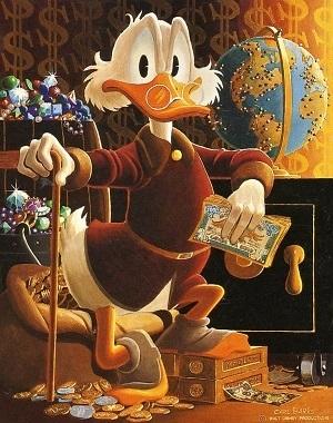 Zio paperone dipinto da Carl Barks