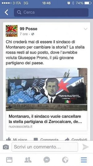 """Zerocalcare: murale di Montanaro a rischio """"revisione"""""""