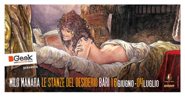 """A Bari """"Le stanze del desiderio"""", personale di Milo Manara"""