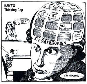 Kanti illustrato da Ralph Edney in Philosophy for Beginners - via Undermain blog