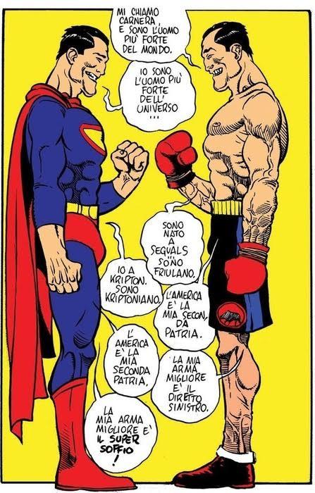 Tavola interna Carnera con Superman
