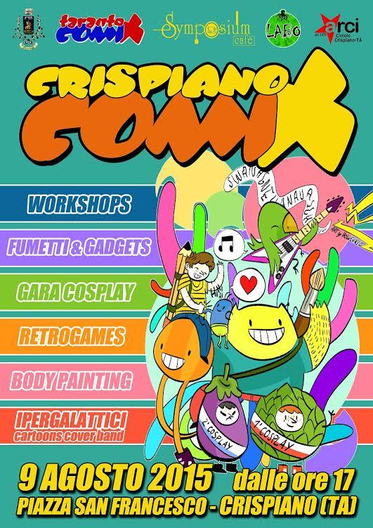 """LABO Fumetto partner  2° edizione """"Crispiano Comix 2015"""""""