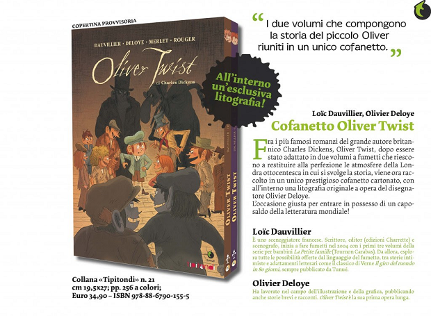 Oliver Twist, di Charles Dickens diventa graphic novel
