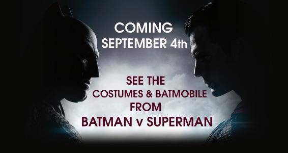 Batman V Superman: Warner Tour per i costumi e la batmobile del film