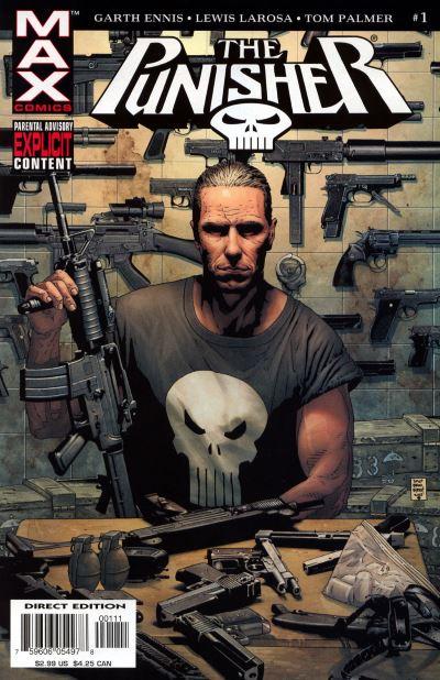 La copertina del primo numero della nuova serie max dedicata al Punitore. © Marvel Comics.