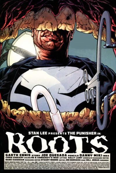 La pagina d'apertura di Roots © Marvel Comics.