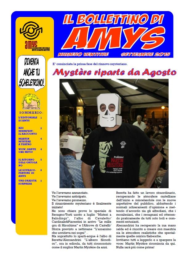 Con la scuola tornano anche Martin Mystère e AMys