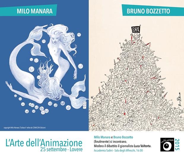 Milo Manara incontra Bruno Bozzetto