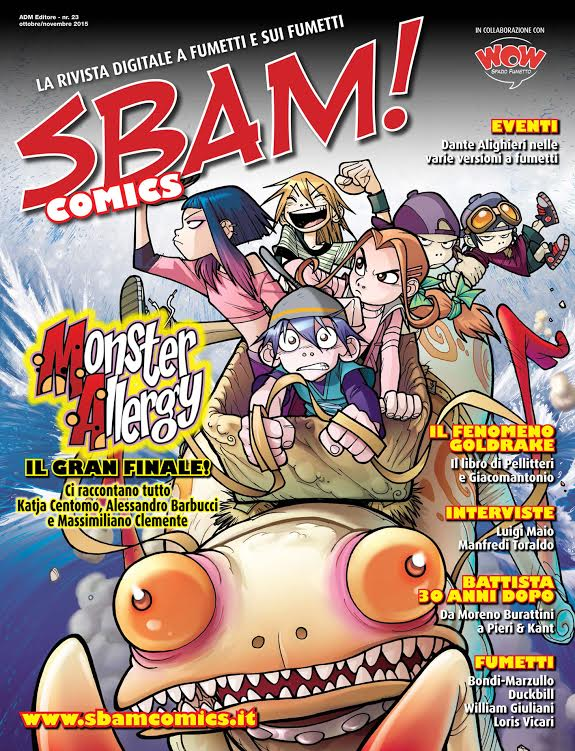 E' disponibile il numero 23 di SBAM! Comics