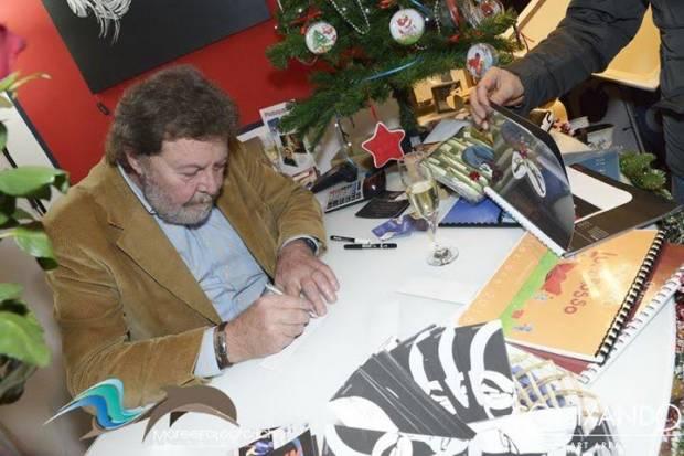 Diabolik su tela, con Mario Gomboli a Comixando Art Area
