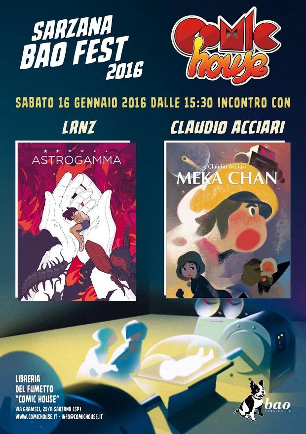 Sarzana Bao Fest 2016: LRNZ e Claudio Acciari a Sarzana