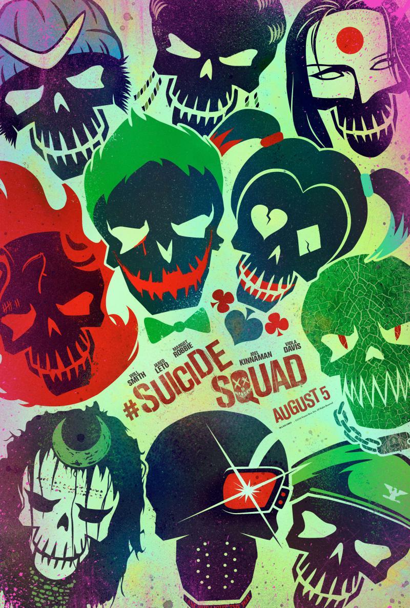 """Nuovi poster in stile """"cartoon"""" per Suicide Squad"""