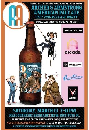 La Valiant a 'tutta birra' sull'etichetta della Arcade Brewery